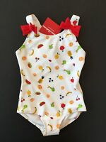 Hanna Andersson Fruit Swimsuit with Red Bows 3 4 5 Sizes 90 100 110 NWT $40.00