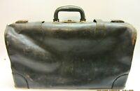 Vintage Large Old Antique Leather Medical Vet Dr Doctor Bag Case