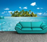 Photo Wallpaper MALEDIVE DREAM - TROPICAL ISLAND Wall Mural 366x254cm BLUE SEA