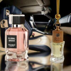 Floral Shock Car Air Freshner Diffuser Oil Perfume Hanging Bottle Fragrance 10ml