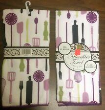 "Set of 2 Microfiber Ultra Absorbent Kitchen Towels (15x25"")KITCHEN GADGETS,pr,BH"