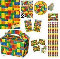 BRICK Building Block Party Bag Fillers Puzzles Toys Jigsaw Erasers Pads Pencils