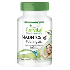 NADH 20 mg sublingual - VEGAN - 60 Tabletten | stabilisiertes NADH | fairvital