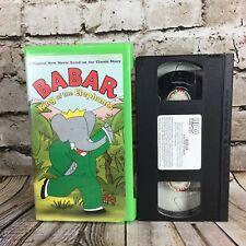 Babar King of the Elephants Clamshell VHS Cassette Tape HBO Kids Video Nelvana