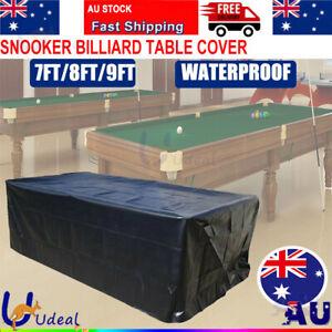 7/8/9ft Pool Snooker Billiard Table Cover Waterproof Polyester Dust Outdoor Cap
