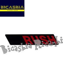 8587 - TARGHETTA RUSH PER VESPA 50 PK XL RUSH - BICASBIA CERIGNOLA