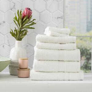 Renee Taylor Stella 650 GSM Bamboo Cotton Bath Towel Pack & Individual White