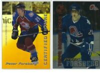 PETER FORSBERG 10 different Hockey cards LOT including RC UD Nordiques Avs L@@k