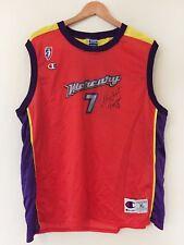 Rare Vintage Michele TIMMS Phoenix Mercury Signed WNBA Jersey Champion Adult XL