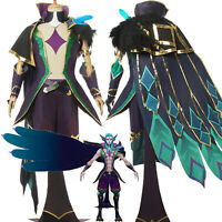 League of Legends LOL Star Guardian Rakan Cosplay Costume Halloween Cloak Suits