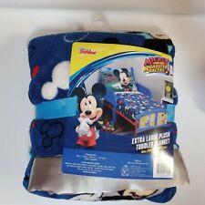 """Disney Junior Mickey. 40"""" X 50"""" Toddler Blanket. Boys. Roadsters Racers"""