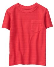 Nwt Gymboree Jump into Summer Boys Red Texture Stripe Shirt Size 3t