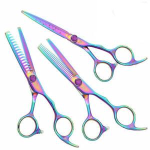 Washi Beauty Rainbow Cotton Candy Hair Cutting Shears 3 Piece Set 5.5 or 6.0