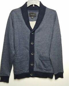 Adam Levine men's shawl collar Cardigan Sweater sz M blue New with tags