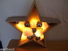 Leuchtender Stern Holz Weihnachtsdeko mit Motiv & LED Beleuchtung Holzstern