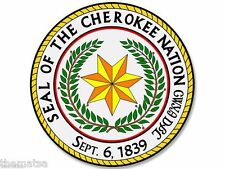 "SEAL OF THE CHEROKEE NATION 4"" DECAL STICKER MADE IN USA"