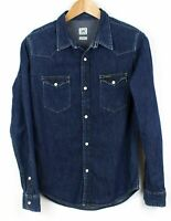 LEE Men Shirt Western Casual Denim Top Size S KZ62