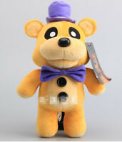 "New Funko FNAF Five Nights At Freddy's Shadow Golden Freddy 12"" Plush Toy Doll"