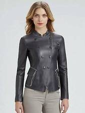 Petite Popper Coats & Jackets without Pattern for Women