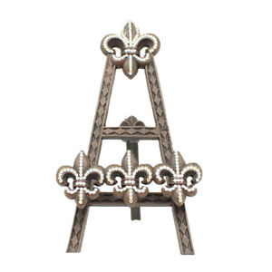 Western Moments Fleur De Lis Crystal Accented Picture Frame Easel