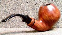 LUIGI VIPRATI - 4 Clovers, Smooth Full Bent Apple - Smoking Estate Pipe / Pfeife