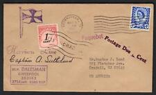 UK-SCOTLAND-US PAQUEBOT 1967 POSTAGE DUE COVER POSTED