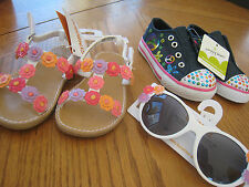 NEW Toddler girl size 5 Summer Shoe & Sunglasses LOT $74 RV Gymboree Sandal
