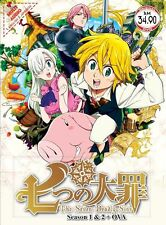 DVD The Seven Deadly Sins Season 1+2 + OVA Complete Box Set *ENGLISH VERSION*