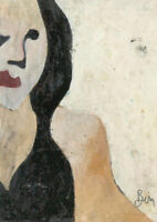 Ben Carrivick - Contemporary Oil, Woman with Long Hair