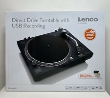 Lenco L-400 BK Direct Drive Turntable with USB Recording