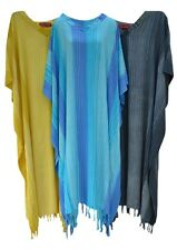 Stripey Ladies Kaftan Long Ethnic Hand Made Vibrant Plus Size Clothing Curve New