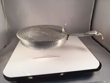 """Vintage  """"Trade Continental Mark"""" Hand Wrought 505 LIDDED PAN w/ mum embossed"""