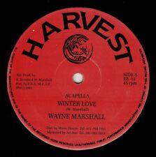 "WAYNE MARSHALL-winter love   harvest 12""   (hear)   reggae"