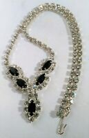 Vintage Rhinestone Choker Necklace Princess Queen Bride Pageant Wedding Dress Up