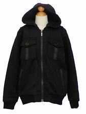 Boys Winter, Jacket Coat w/Hat, Black, Size: Medium (6 years)
