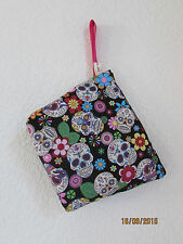 MAKE UP BAG BRUSH PURSE SUGAR CANDY SKULL MEXICAN DOLLY HANDBAG MAKE UP DRESS