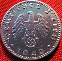 Nazi German 50 Reichspfennig 1940A-Year Battle of Britain WWII-Coin Third Reich