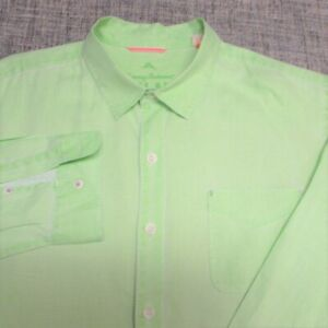 TOMMY BAHAMA LINEN LONG SLEEVE BUTTON UP SHIRT--XL--POCKET--TOP SPOTLESS QUALITY