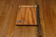 Vintage Retro Wooden Guillotine Photo Cutter by Nebro - Made in Britain