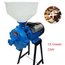 Electric Animal Poultry Feed Mill Wet Dry Grinder Corn Grain Rice Wheat220V Good