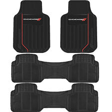 ELITE RUBBER FRONT FLOOR MATS WITH TWO ROW RUBBER RUNNER UNIVERSAL SET for Dodge