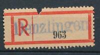 80197) Frz.Zone, Reco-Zettel , blauer L1 Denzlingen