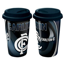 Carlton Blues AFL CERAMIC TRAVEL COFFEE MUG Birthday Work Man Cave Bar Gift