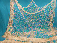 6' X 8' Fishing Net Sea Shells Starfish Home Decor Beach Ocean, Tan