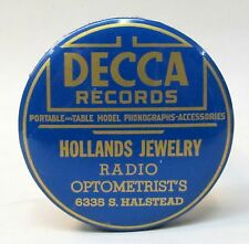 20's DECCA RECORDS Hollands CHICAGO advertising celluloid record cleaner brush *