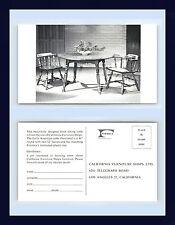 CALIFORNIA FURNITURE SHOPS FORMICA LAMINATED EARLY AMERICAN TABLE CIRCA 1957