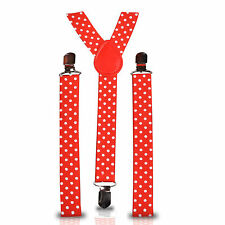 Adjustable Slim Unisex Men Ladies Trouser Braces Suspenders Clip On Fancy Dress