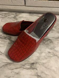 Aerosoles Double Down Re Faux Alligator Print Flats Mule Shoes Women's 8.5
