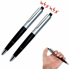 2X Shocking Electric Shock Novelty Metal Pen Prank Trick Joke Gag Toy Gift Funny