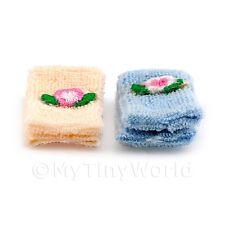 Miniatura Para Casa De Muñecas él y Ella toalla Juego